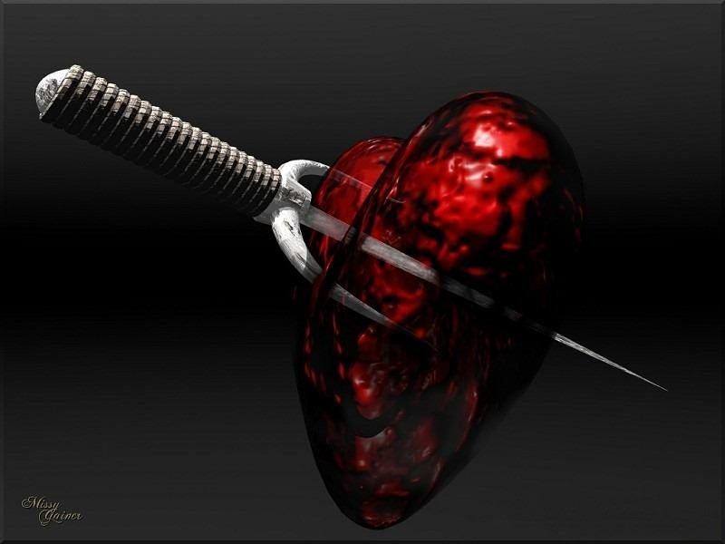 фото нож в сердце структуре оборота