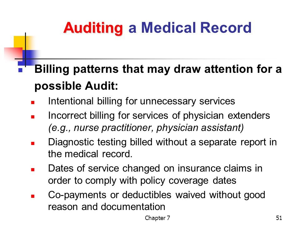 Tips to Audit a Medical Record