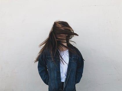 girl twirling hair