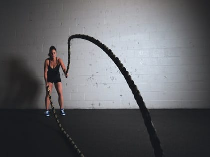 woman rope jumping