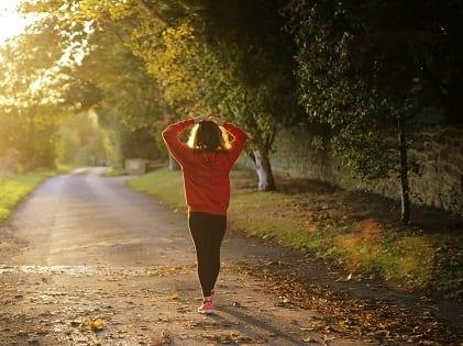woman walking health