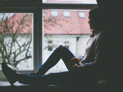 window-view-woman-sitting
